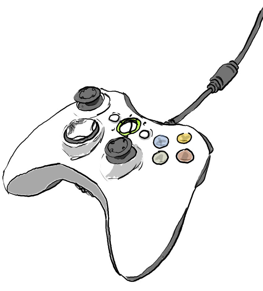 Xbox Live Drawing : Xbox controller by fanngorn on deviantart