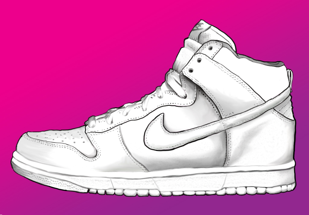 nike shoes drawings. nike shoe by fanngorn shoes drawings r