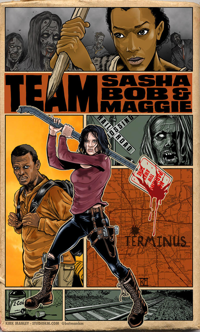 Team Maggie Sasha and Bob by batmankm