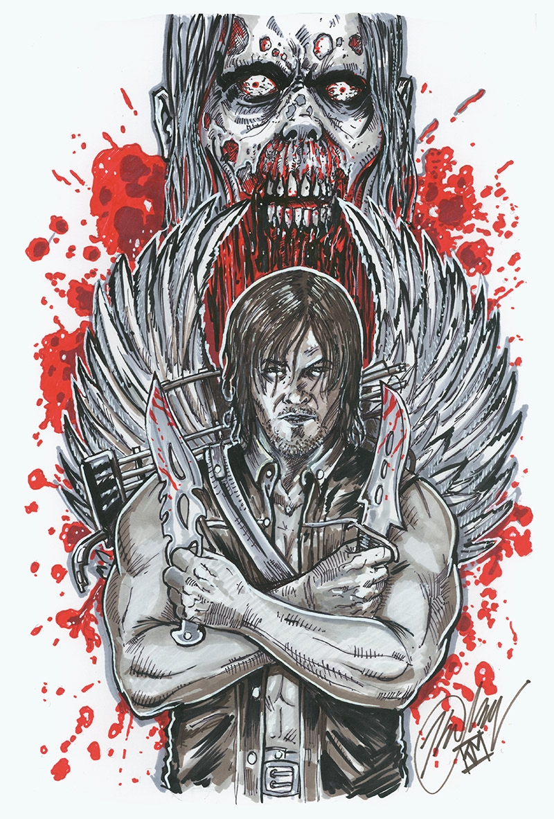 Daryl Portrait-WHT by batmankm