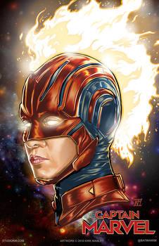 Captain Marvel In Helmet