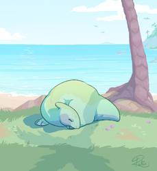 Dino Sleep by Kiibie