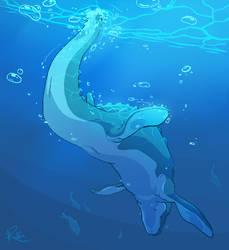Dino Swim by Kiibie