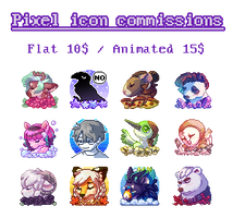 Pixel Icon Commissions [OPEN] by Kiibie