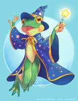 Froggie the Wizard - Commission by Kiibie