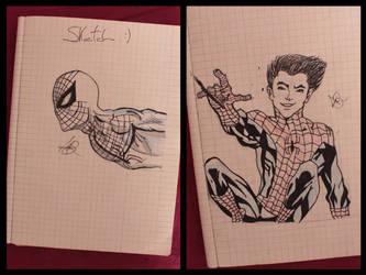 Spiderman Sketch by Kid-Jabberwocky