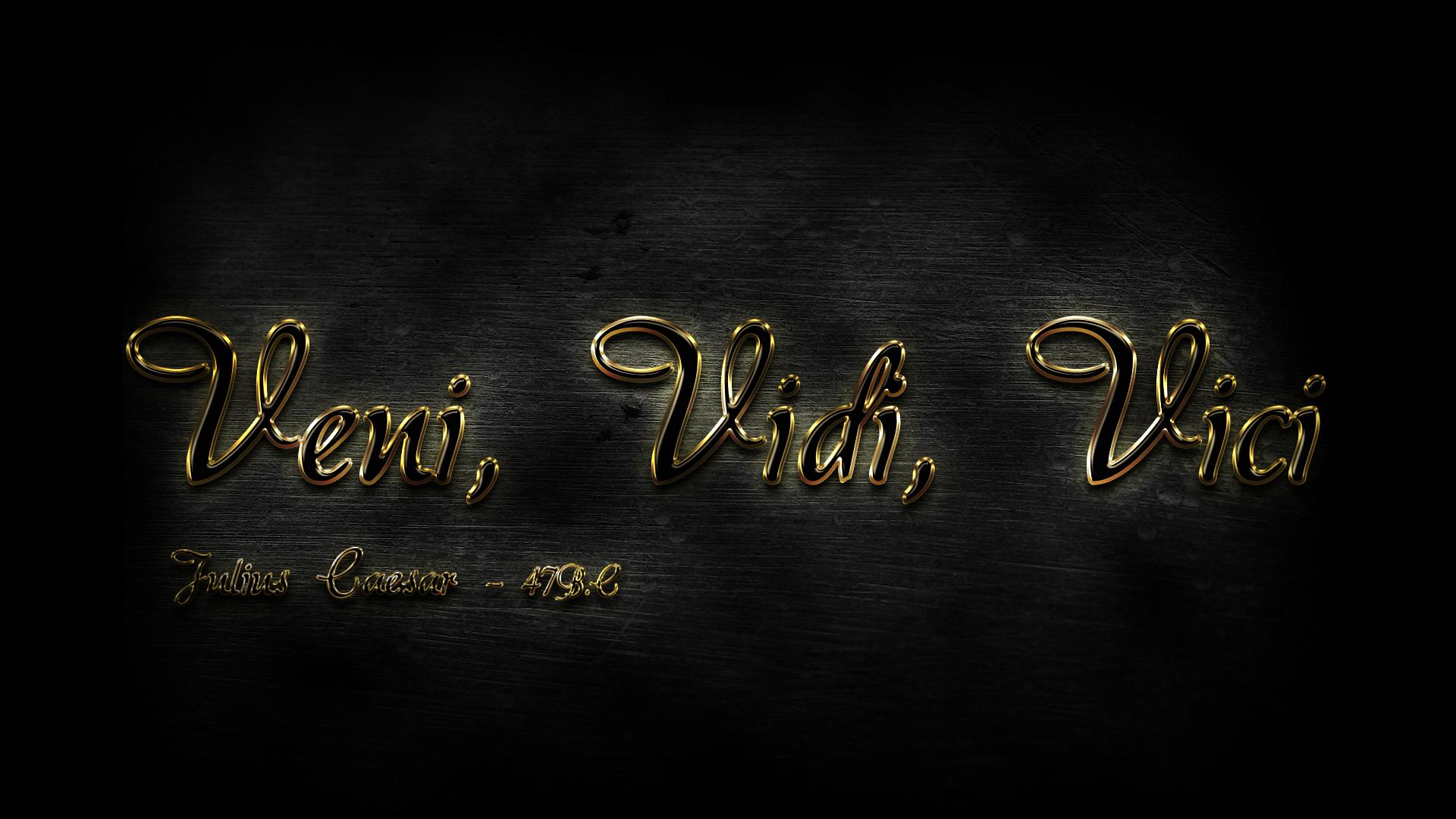 Veni vidi vici golden wallpaper by furiion52 on deviantart - Veni vidi vici tatouage ...