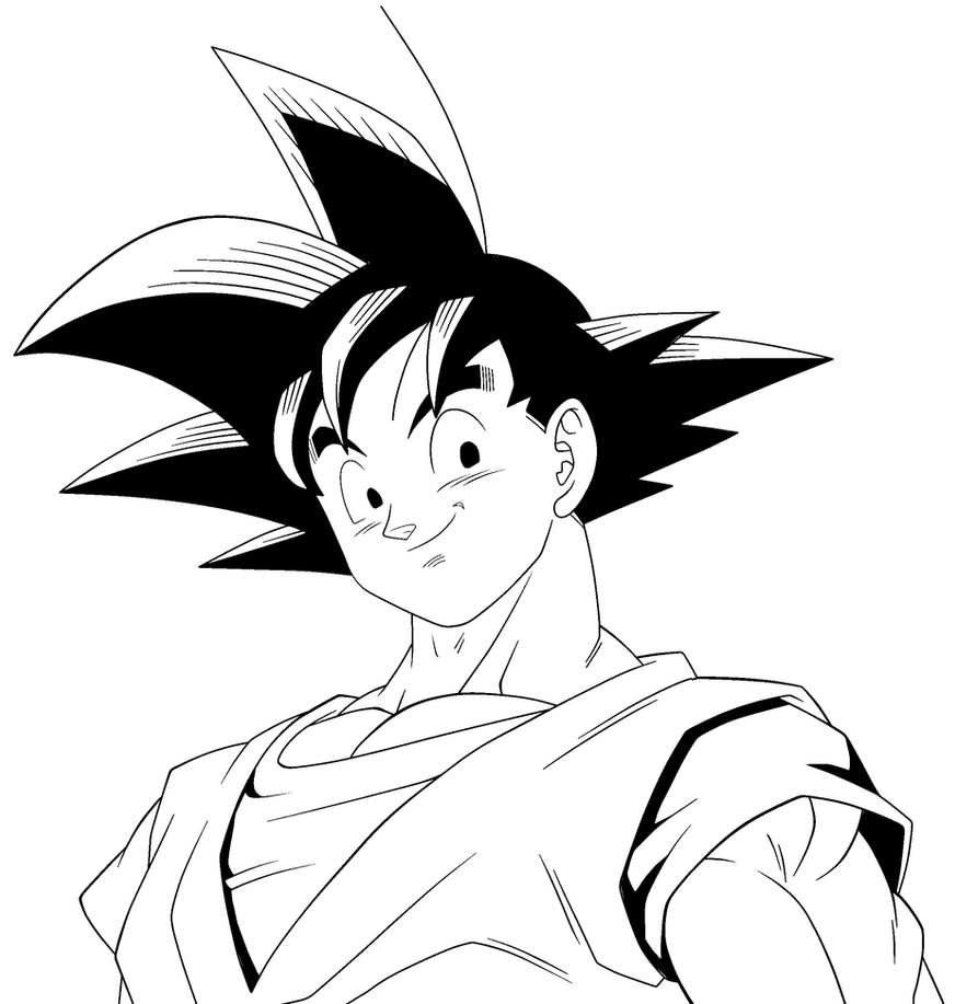 Goku para colorear by Noakuz
