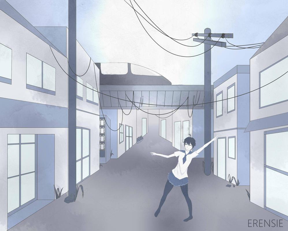 Japanese Street by erensie