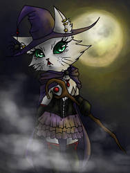 Halloween Witch Cat 02