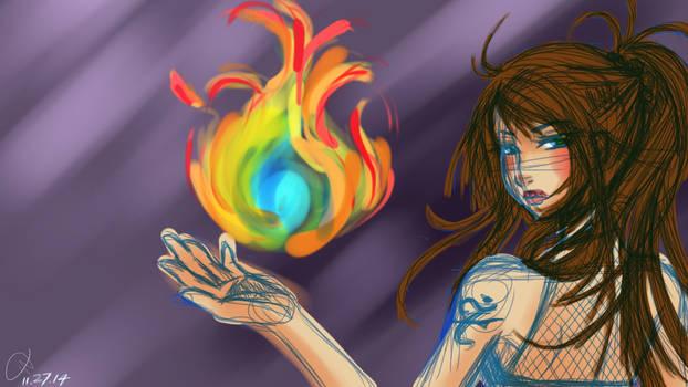 WIP: fire girl