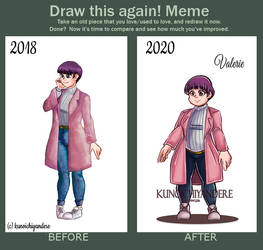 Draw this again meme: OC by kunoichiyandere