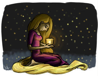 Rapunzel lantern by Havock103190
