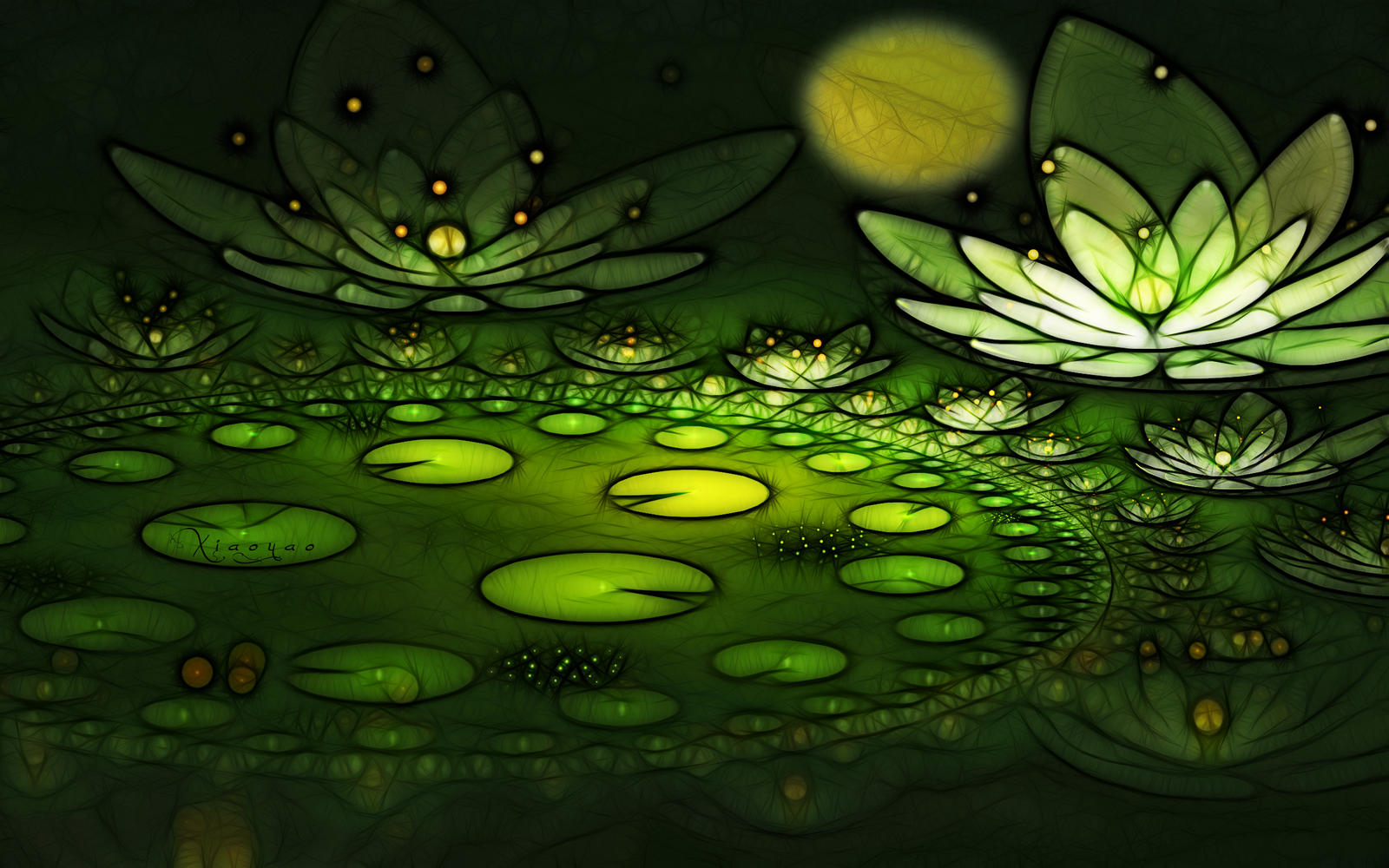 Green night by fractist