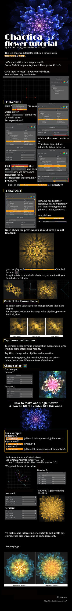 chaotica SJflower tutorial by  fractist by fractist