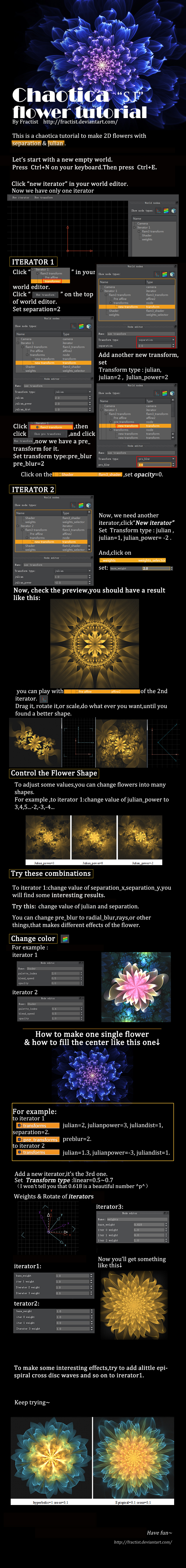 chaotica SJflower tutorial by  fractist