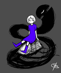 Girl and her Shadow by Goat13