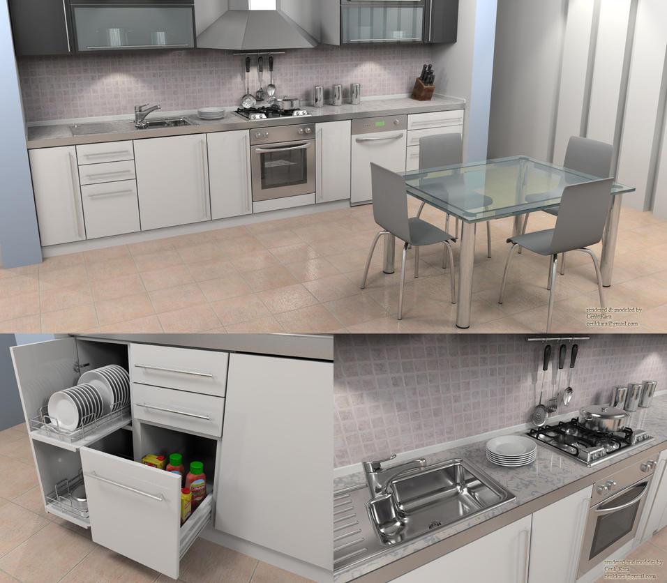 Kitchen Render 01 By Cenkkara ...