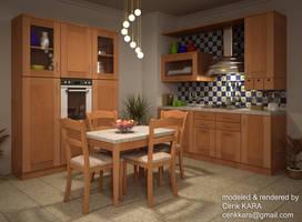 Kitchen Render 03 by cenkkara