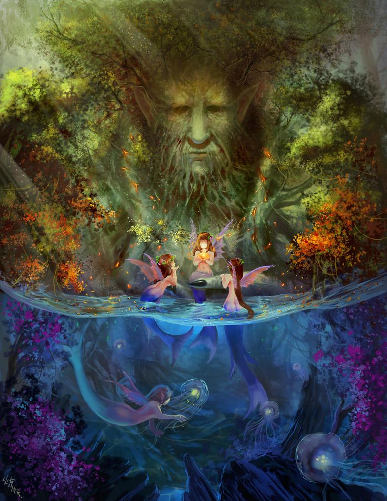 The Little Mermaid Painting La Tour