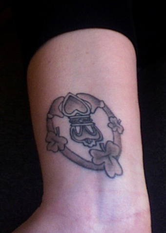 claddagh tattoo inside of my
