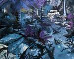 Nightattheruin - premade background by Sorianumera