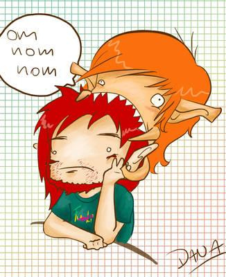 Om nom nom by Aidanna