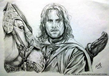 LoTR: Aragorn by Grace-Zed