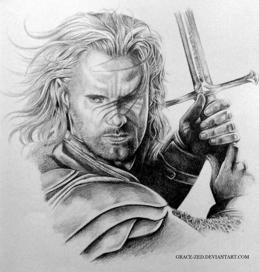 lotr aragorn by grace zed on deviantart