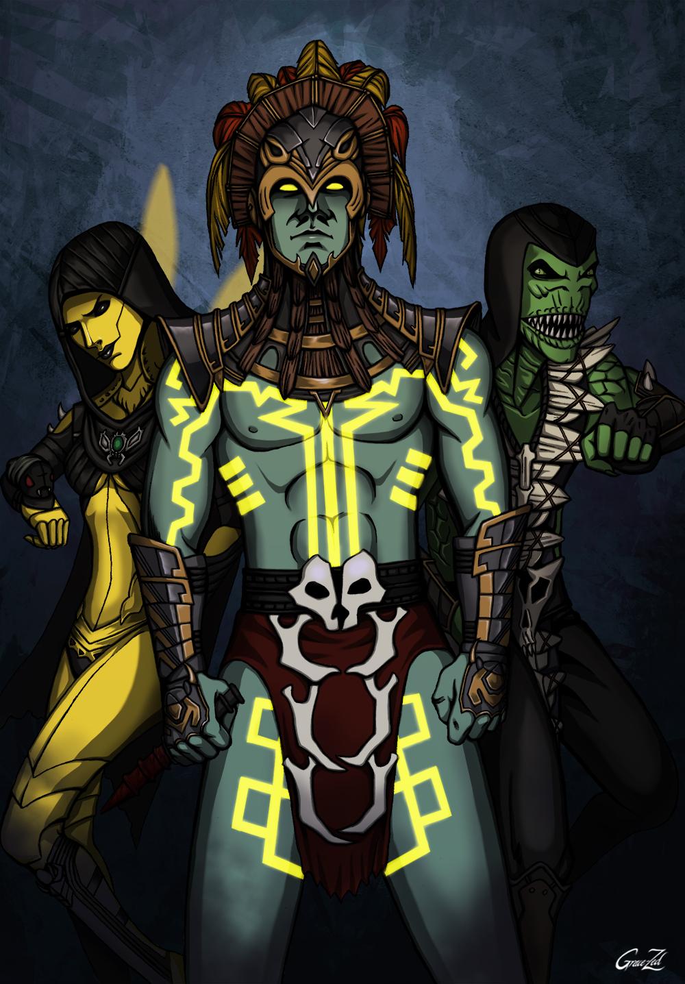 MKX Dvorah vs Scorpion by Grace-Zed on DeviantArt