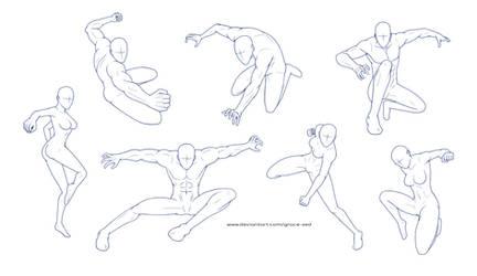 Pose Reference Sheet 3 by Grace-Zed