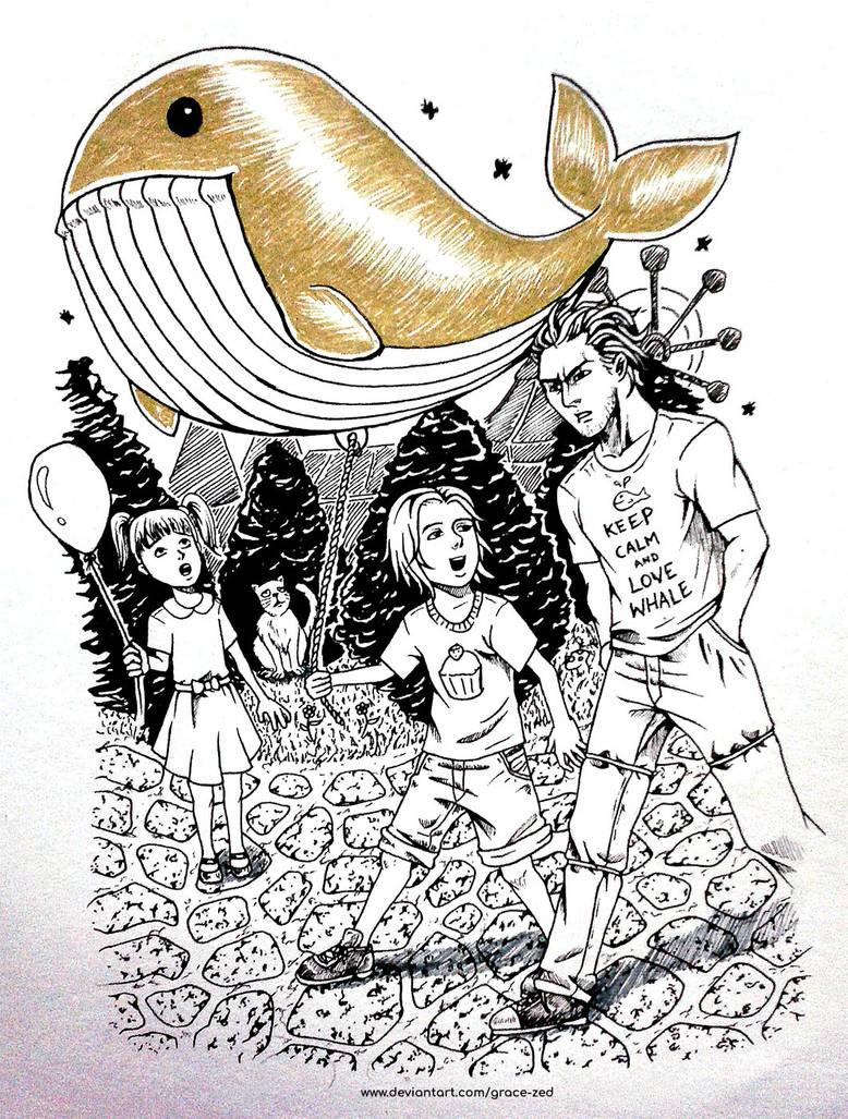 Inktober - Whale by Grace-Zed