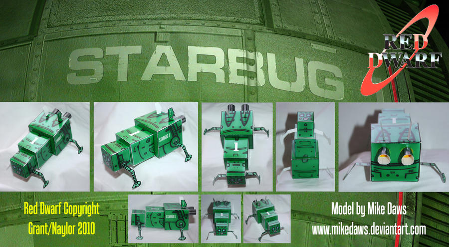 Red Dwarf - Starbug Model 2 by mikedaws