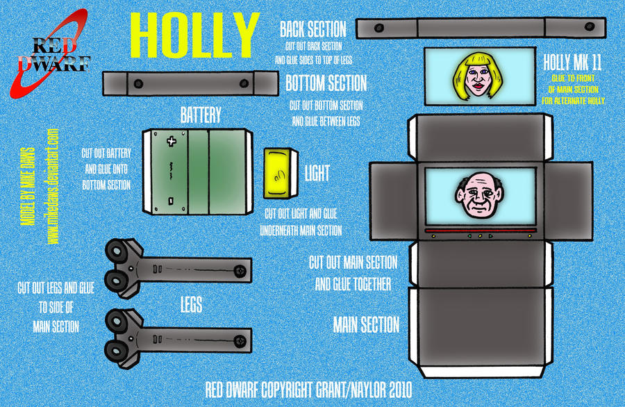Red Dwarf - Holly by mikedaws