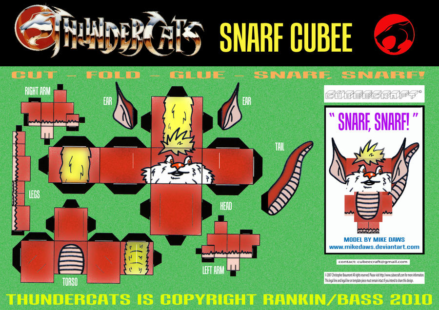 Thundercats - Snarf Cubee by mikedaws