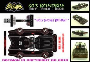 Batman - 60's Batmobile by mikedaws