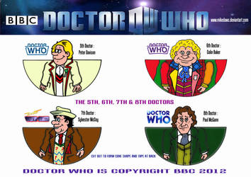 Doctor Who -  Mini Doctors 5 - 8 by mikedaws