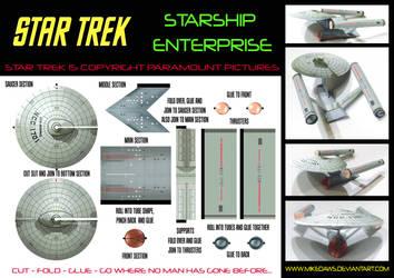 Star Trek - Starship Enterprise Model by mikedaws