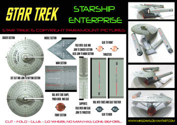 Star Trek - Starship Enterprise Model by mikedaws
