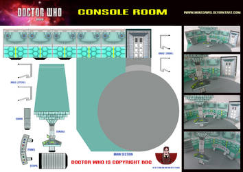 Doctor Who - Console Room by mikedaws