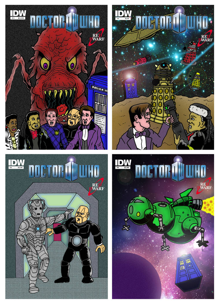 Doctor Who - Red Dwarf Comic Book 1-4