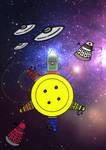 Doctor  Who - Button Moon Artwork