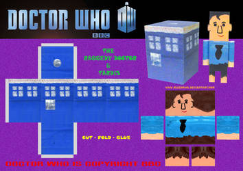 The Raggedy Doctor and Tardis by mikedaws
