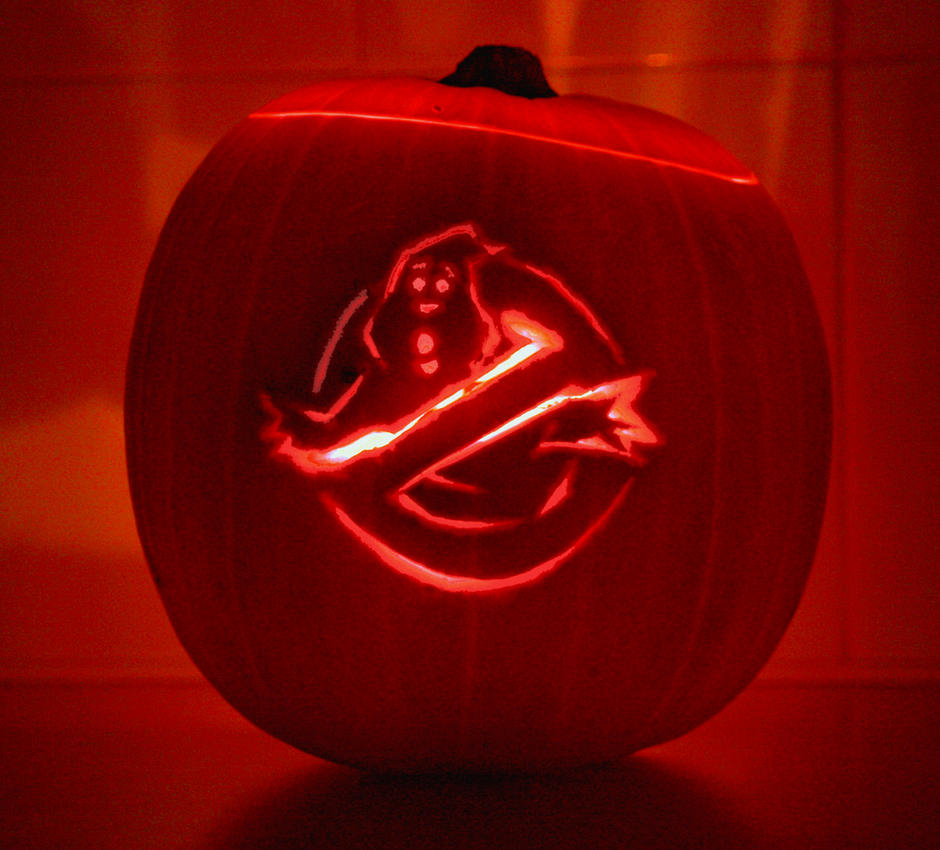 Ghostbusters pumpkin by mikedaws on deviantart
