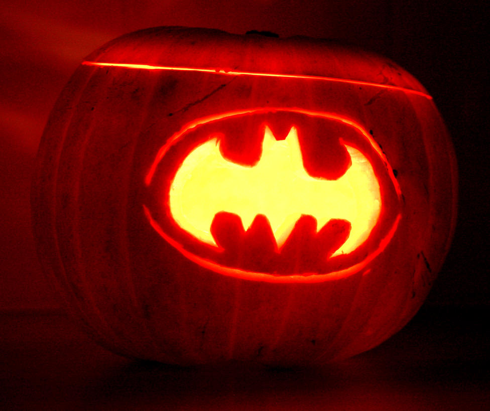 Batman logo pumpkin by mikedaws on deviantart