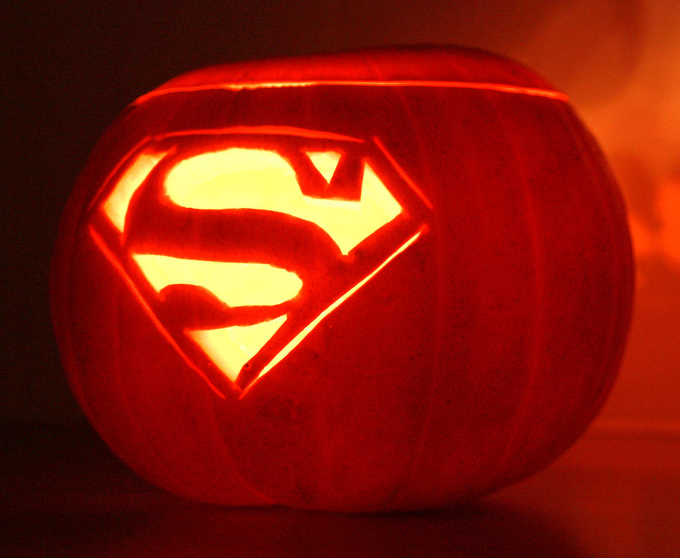 Superman logo pumpkin by mikedaws on deviantart