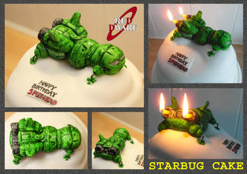 Red Dwarf - Starbug Cake by mikedaws