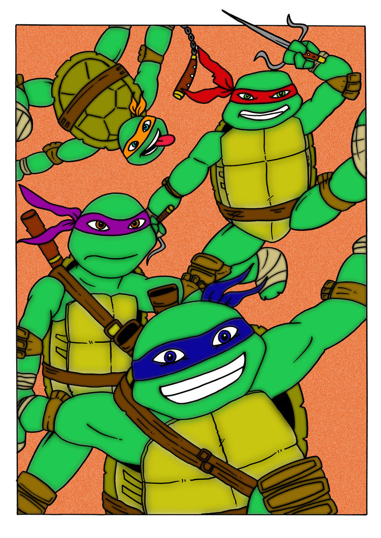TMNT by mikedaws