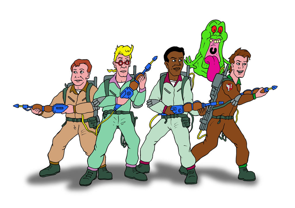 The Real Ghostbusters by mikedaws