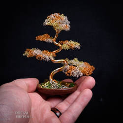 Wire Bonsai Tree Sculpture by Metal Bonsai  MG 313